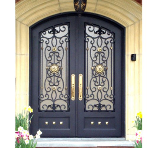 American fashion exterior main wrought iron front entry door