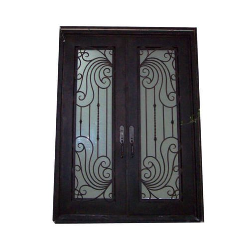 Black modern front iron door design