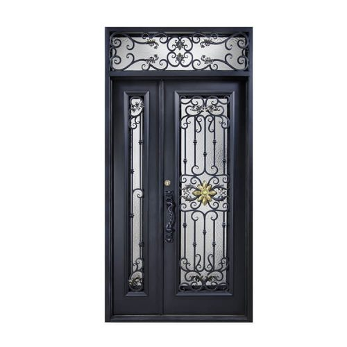 entrance wrought iron door