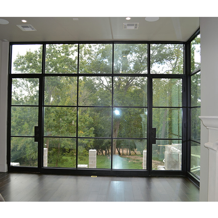 French Exterior Doors Steel: Classic Black Metal French Doors Exterior Standard Design