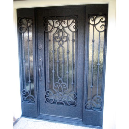 Modern style french doors with sidelights