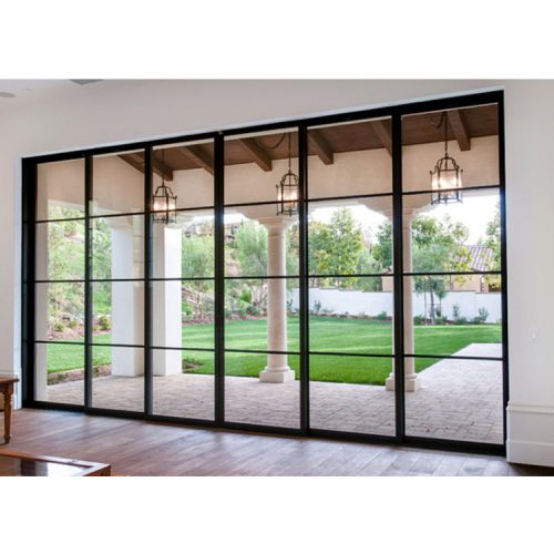European exquisite push and pull glass door